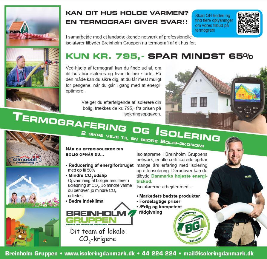 Termografering Århus, Randers, Silkeborg, Holstebro og hele Midtjylland og Nordjylland