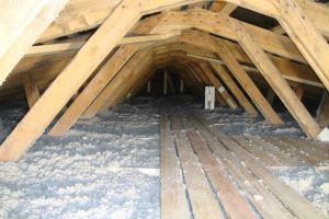 Isolering af loft efter indblæsning